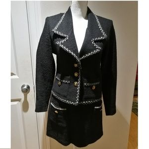 Sandro Black Blazer and Skirt Suit #122